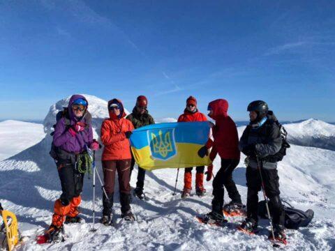 Київські альпіністи у зимових Карпатах
